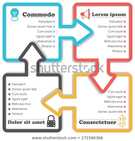 документа Инфографика страница документация бизнеса Сток-фото © robuart