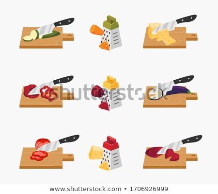 Vegan queijo abobrinha ilustração prato comida Foto stock © lenm