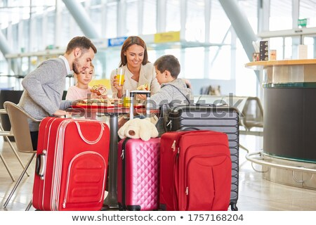 Stock photo: Travel and Vacation People Eating in Restaurant