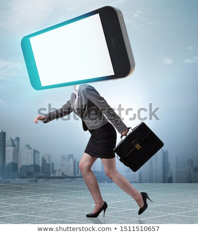 The mobile phone zombie under the influence of smartphone Stock photo © Elnur