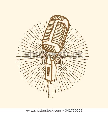 moderne · radio · microfoon · zingen · vector - stockfoto © pikepicture