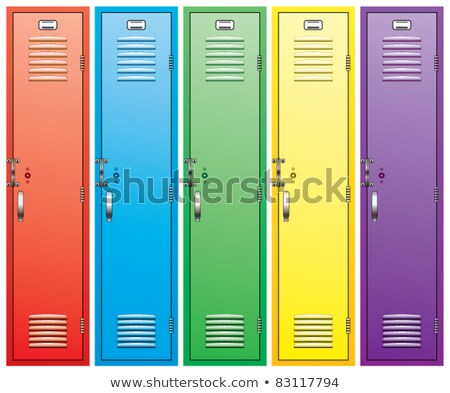 vector red school lockers  Stock photo © freesoulproduction