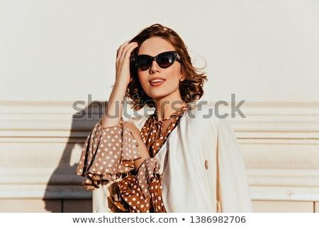 Mooie moderne meisje jeugd stijl mode Stockfoto © Lopolo