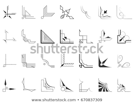 Collection of calligraphic decorative corners - vector design Stock photo © blue-pen