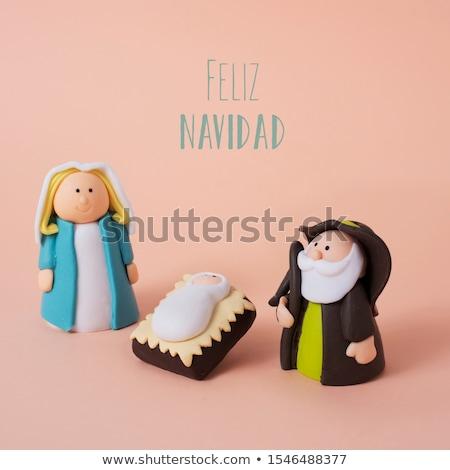 wesoły · christmas · hiszpanski · napisany · kredy · tablicy - zdjęcia stock © nito