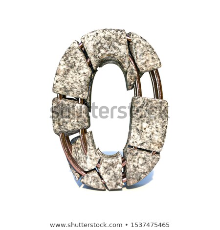 Concrete fracture font Number 0 ZERO 3D Stock photo © djmilic