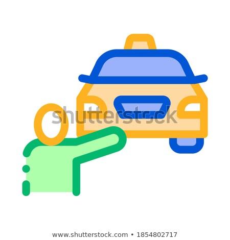 Humanismo on-line táxi ícone vetor fino Foto stock © pikepicture