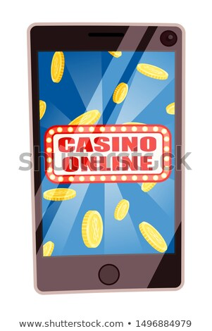 Casino Online, Smartphone with Money Coins Victory Stock photo © robuart