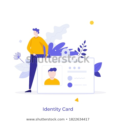 Smart ID card concept vector illustration. Stock photo © RAStudio