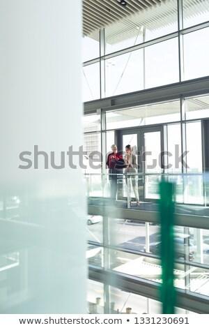Halfbloed onderneemsters bespreken laptop Stockfoto © wavebreak_media
