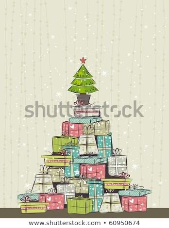 Stylized Christmas tree and gifts 1 Stock photo © clairev