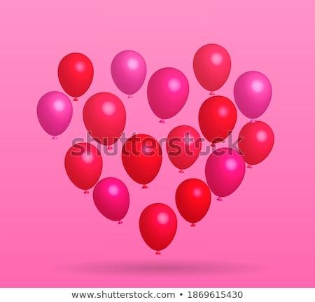 Feliz dia dos namorados voador monte rosa branco Foto stock © olehsvetiukha