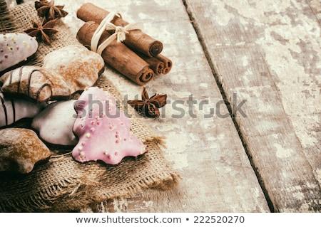 Prato pão de especiarias natal tempo Foto stock © lovleah