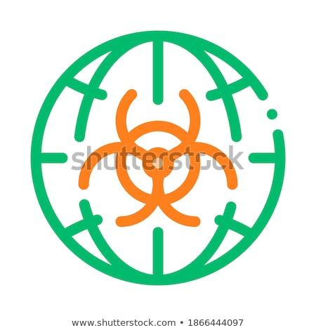 Biohazard Symbol Problem Vector Thin Line Icon Stock photo © pikepicture