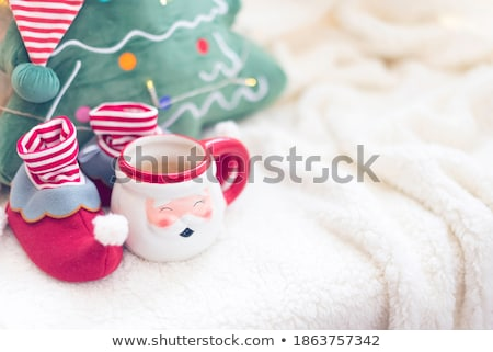 Merry and Bright Christmas, Elf Greet with Holiday Stock photo © robuart