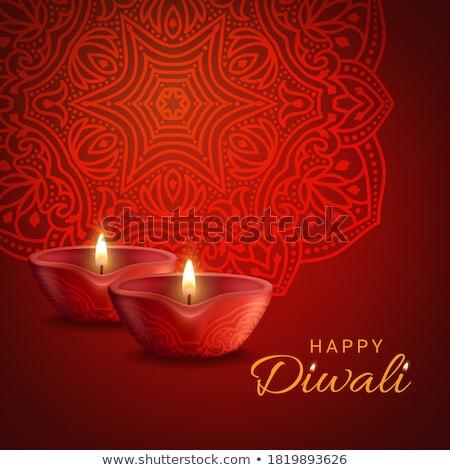 Gyertya fény piros mandala illusztráció háttér Stock fotó © bluering