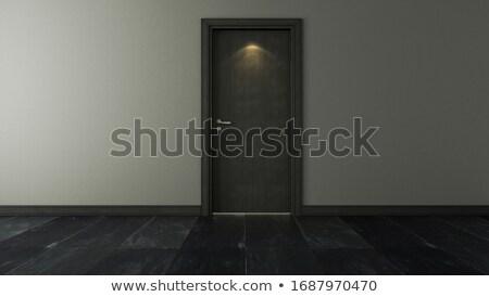 ドア スポット 光 壁 黒 石 ストックフォト © sedatseven