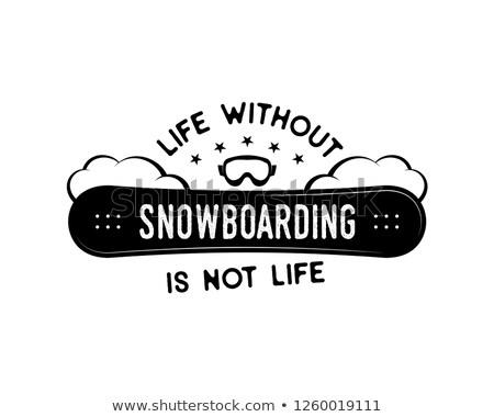 Snowboard projeto inverno logotipo vida snowboarding Foto stock © JeksonGraphics