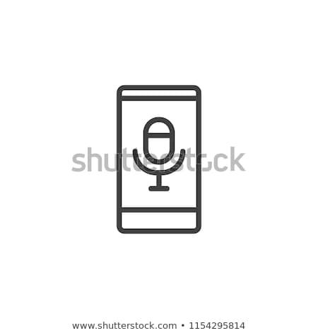 Hang furulya ikon vektor skicc illusztráció Stock fotó © pikepicture