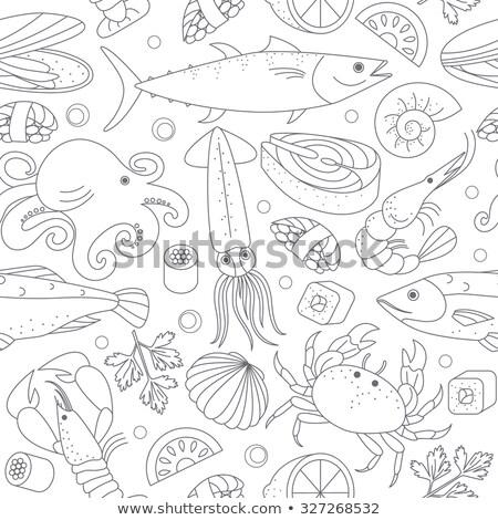 Different marine animals Stock photo © olira