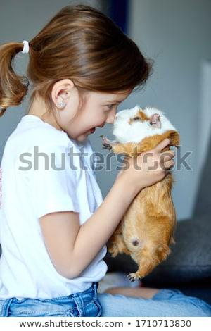 Kind spelen cavia blijven tijd kid Stockfoto © Illia