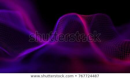 Absztrakt futurisztikus kék lila részecskék terv Stock fotó © SArts