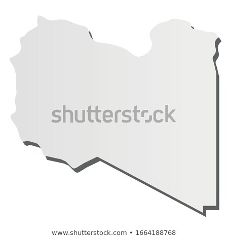 Libya country map, simple black silhouette on gray Stock photo © evgeny89