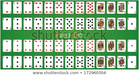 Królowej pik gry karty odizolowany biały Zdjęcia stock © evgeny89