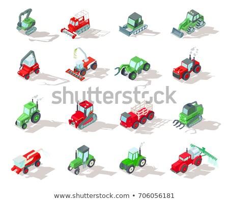 Agrícola veículos vetor isométrica transporte Foto stock © pikepicture