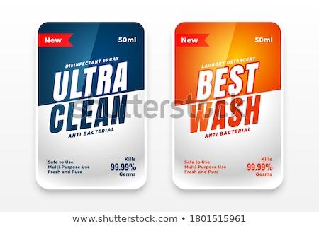 detergent wash labels design set of two Stock photo © SArts