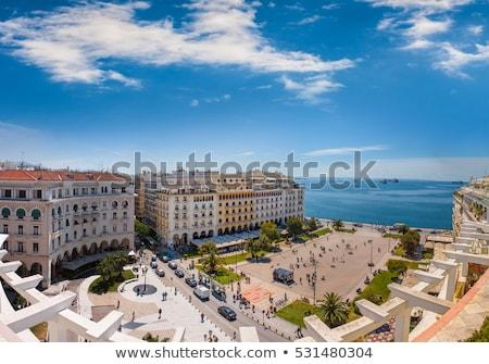 Placu saloniki Grecja główny miasta budynku Zdjęcia stock © borisb17