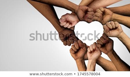 Sociale justitie samen menigte mensen Stockfoto © Lightsource