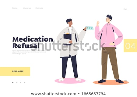 Refusal of vaccination concept landing page. Stock photo © RAStudio