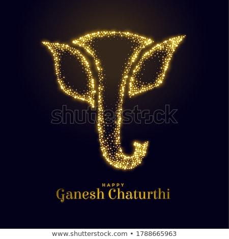sparkling lord ganesha figure for ganesh mahotsav Stock photo © SArts