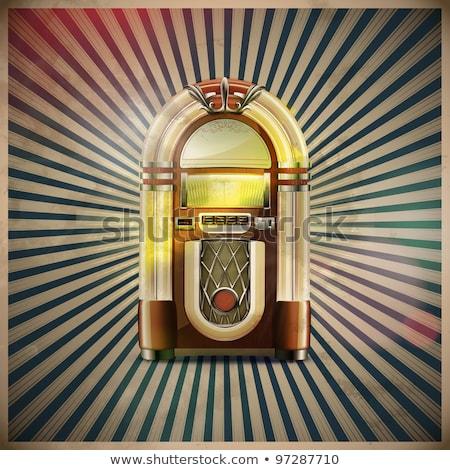 classic juke box Stock photo © oblachko