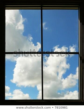 Celestial ventana edad castillo arco Foto stock © morrbyte