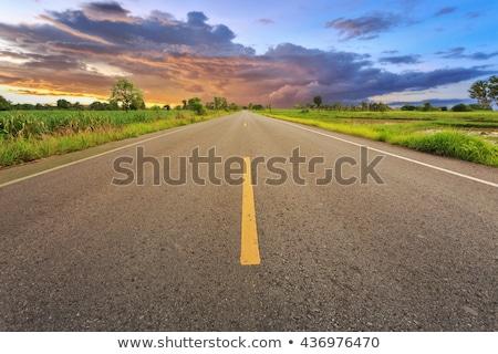 Tailândia sinal da estrada verde nuvem rua assinar Foto stock © kbuntu