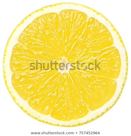 Plaster cytryny biały owoców Fotografia Zdjęcia stock © mblach