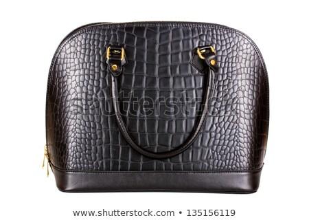 odizolowany · czarny · skóry · torebce · portfela · biuro - zdjęcia stock © vichie81