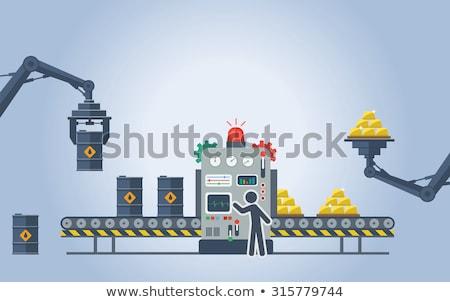 Przemysł naftowy oleju odizolowany biały działalności Zdjęcia stock © Arsgera