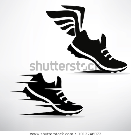 Track Shoe with Wing Vector Illustration Stock photo © chromaco