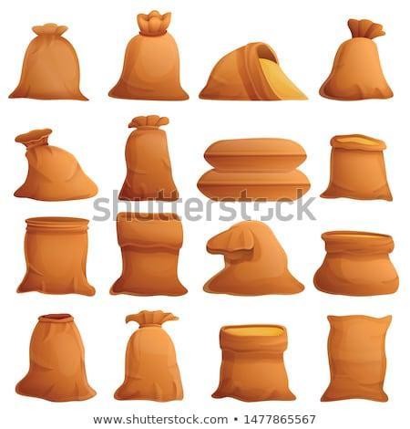 Toile sacs récolte texture fond cadeau Photo stock © Iscatel