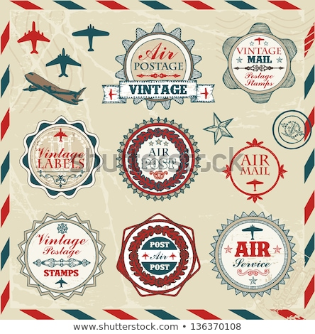 Vintage aeronautics labels Stock photo © mikemcd
