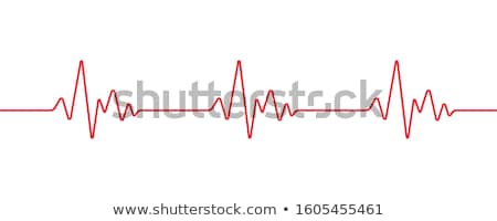 Electronic cardiogram ECG heart beat trace on a monitor. Stock photo © latent