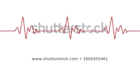 ハートビート · モニター · 医療 · 心電図 · 青 · 中心 - ストックフォト © latent