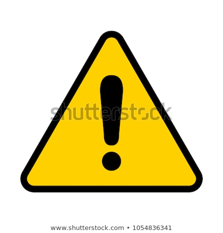 yellow triangle with exclamation sign Stock photo © rumko