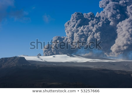 Vulcano cenere nube ghiacciaio meridionale Islanda Foto d'archivio © Imagix