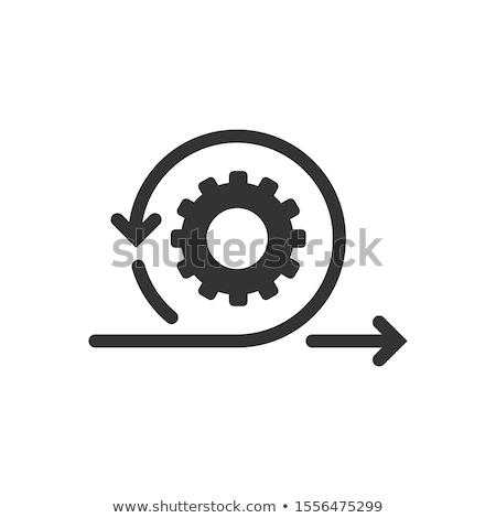 business · vita · ciclo · mano · switch · sei - foto d'archivio © vichie81