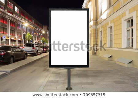 Empty white billboard on the sidewalk stock photo © scornejor