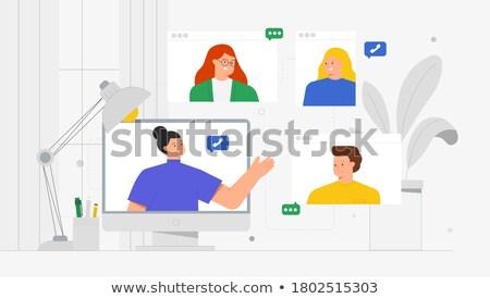 Modern communication Stock photo © antonprado
